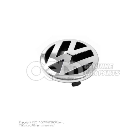 Эмблема vw chromglanz/anthrazit 3D7853600  MQH
