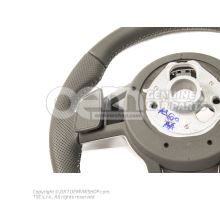 Multifunct. sports strng wheel (leather perforated) soul (black)/cliff grey 8S0419091ABJAH
